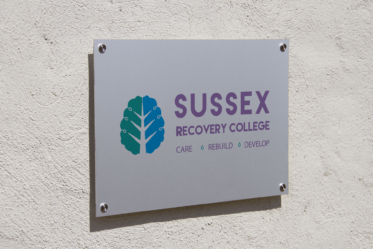 Sussex Recovery College Metal Sign