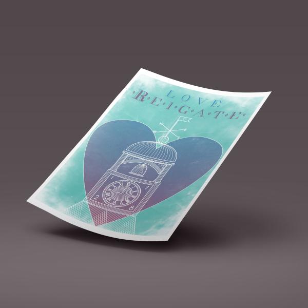 LoveReigate Clocktower Print