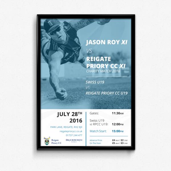 Jason Roy Charity Match 2016 Poster
